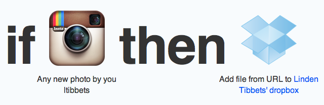Exemple d'application de if this than that sur ifttt