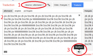 beatbox google traduction
