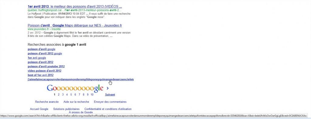 google 1 avril - Recherche Google