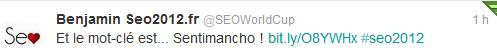le tweet du demarrage du concours sentimancho